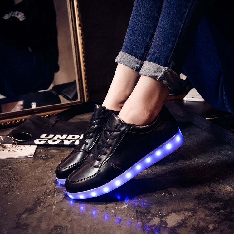 Led shoes for adults Plus size light up luminous women shoes zapatos mujer 2015 fashion shoes star hot(China (Mainland))