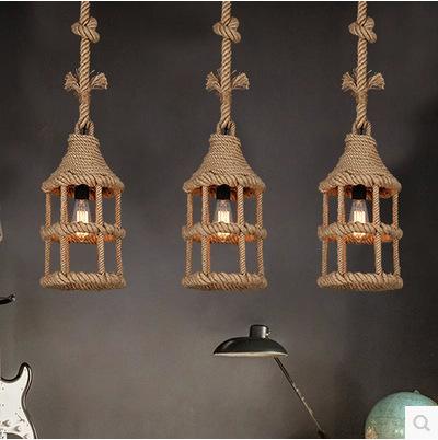 American retro creative industrial wind fillis cabin balcony aisle bar restaurant chandelier lighting personality
