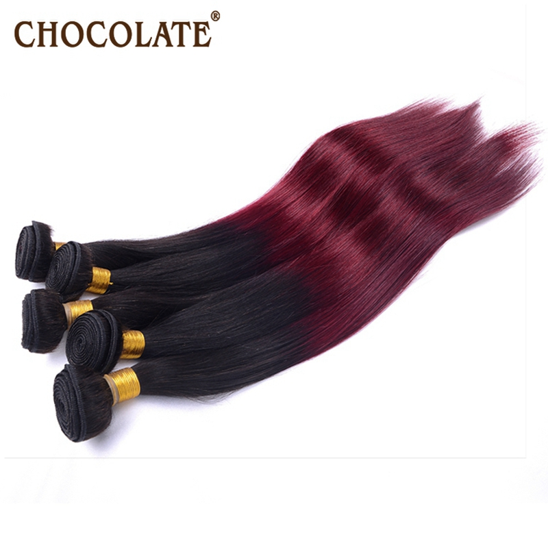 rosa chocolate human hair products natural black and burgandy ombre remy Peruvian straight 4 bundles for 2015 sale free shipping<br><br>Aliexpress