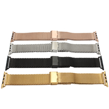 Hot Sale For Apple Watch band 38mm42mm Milanese Mesh belt Quality stainless steel Strap Black Smart watches accessories