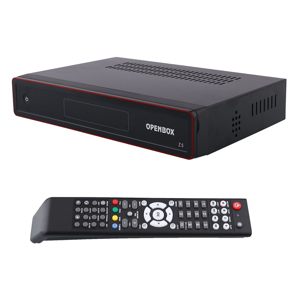 New Openbox Z5 PVR FTA TV Satellite Receiver Box USB Google Map UK-Plug +hdmi cable +remote control Black(China (Mainland))