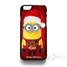For iphone 4/4s 5/5s 5c SE 6/6s 7 plus ipod touch 4/5/6 back skins mobile cellphone cases cover MINIONS CHRISTMAS