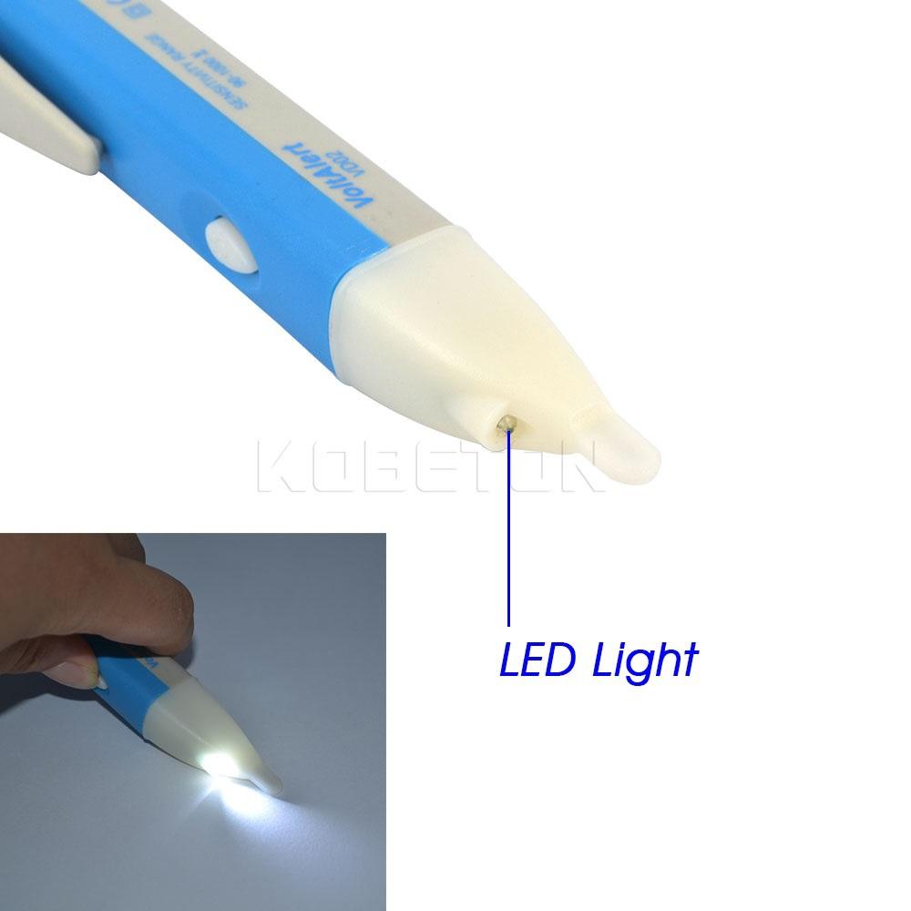 Portable Non Contact AC Inspection LED Light AC Electric Voltage Tester Volt Alert Pen Detector Sensor