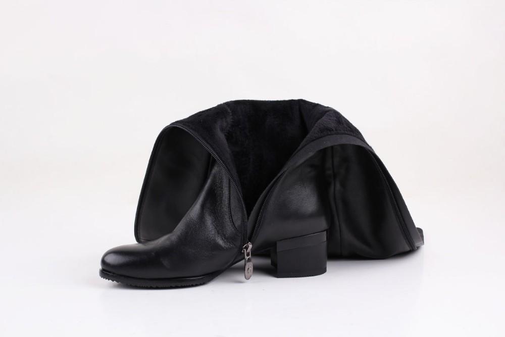 Bacia Brand Women Boots Autumn Winter Leather Boots Medium Heel Sheepskin Shoes Soft Genuine Boots Short Plush Shoes VB079