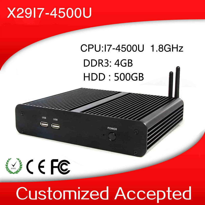 With high-powered CPU mini desktop computer thin client support windows 7 X29-i7 4500u 1.8GHz Celeron Dual core 4gb ram 500 hdd(China (Mainland))