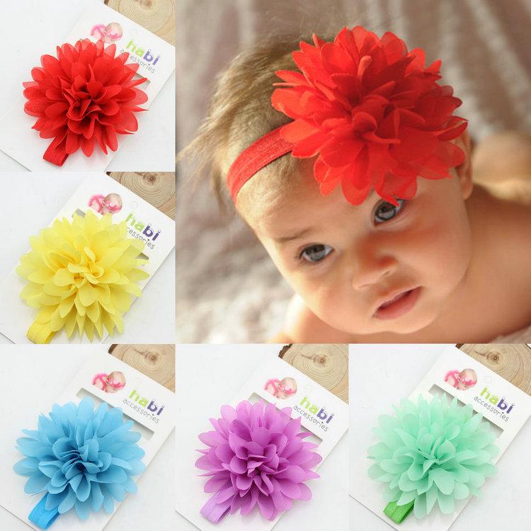 baby flower headband girl elastic hairband kids head band children hair accessories Photography Props(China (Mainland))