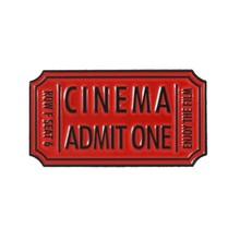 9 Gaya Tiket Film Enamel Bioskop Neraka Mengakui Satu Lencana Kustom Bros Tas Pakaian Kerah Pin Punk Hitam Merah perhiasan Hadiah(China)