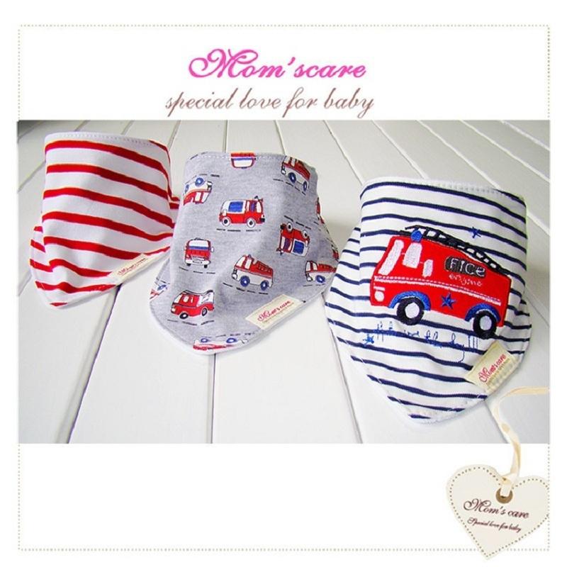 3pcs/lot Baby Bibs Bandana Lot 100% Cotton High Quality Babadores Para Bebe Infant Saliva Towel For Boys And Girls KF025(China (Mainland))