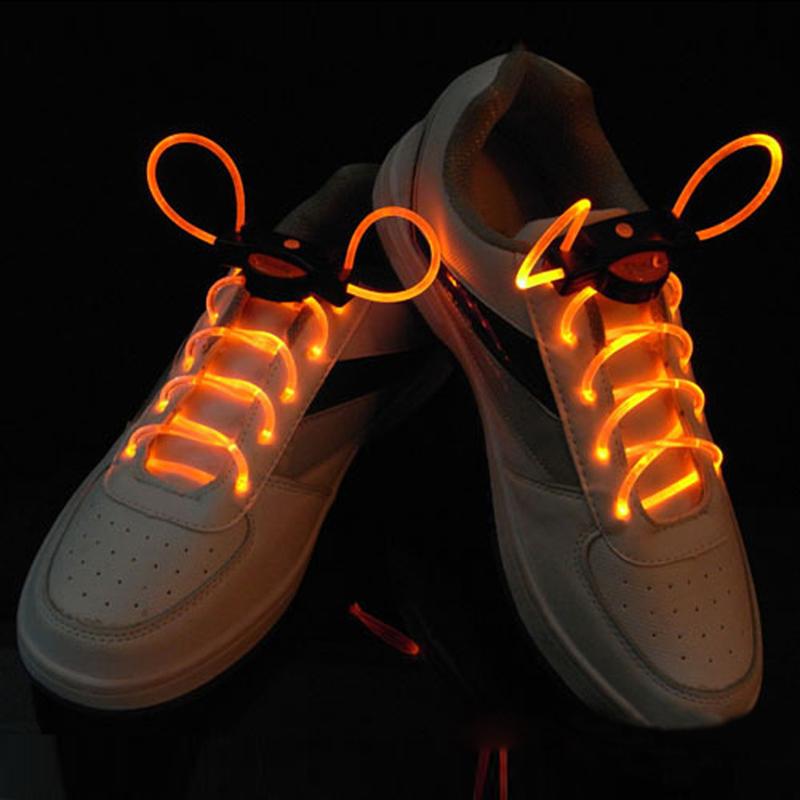 Hot Cool Fashion LED Shoelaces Shoe Laces Flash Light Up Glow Stick Strap Flat Shoelaces Disco Party for Shoe Accessories<br><br>Aliexpress