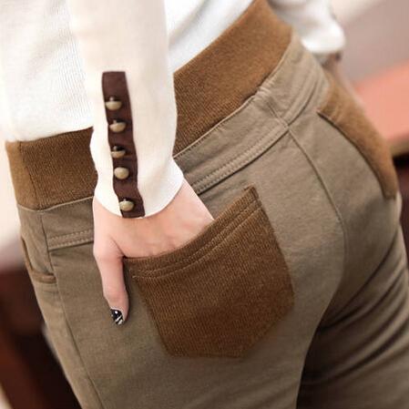 Plus Size 3XL Women Pencil Pants Skinny Black Thick Velvet Warm Winter Leggings Jeggings Sport Legins Feminina Trousers MF865936(China (Mainland))