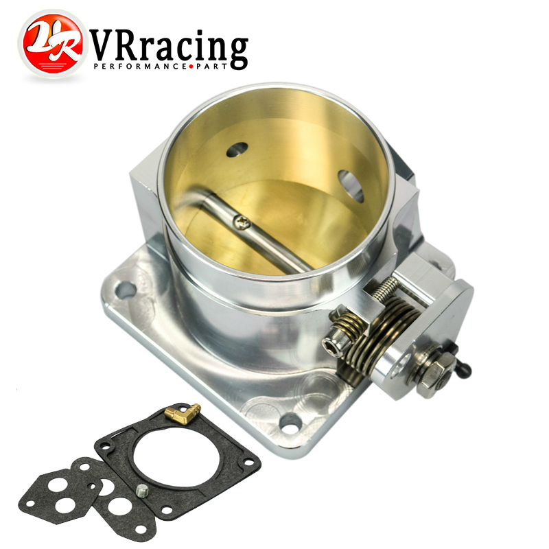 VR RACING-75MM BILLET CNC THROTTLE BODY FOR 86-93 FORD MUSTANG GT COBRA LX 5.0 VR6958S(China (Mainland))