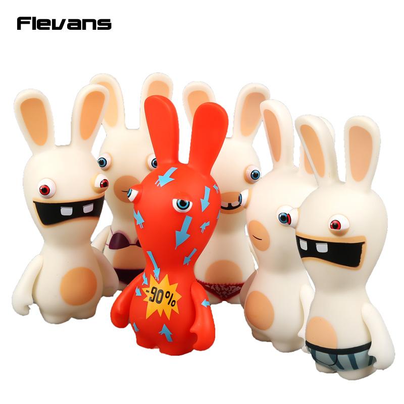 "Rayman Raving Rabbids PVC Action Figures Collectible Model Toys Kids Toys Gifts 6"" 14cm 6pcs/set(China (Mainland))"