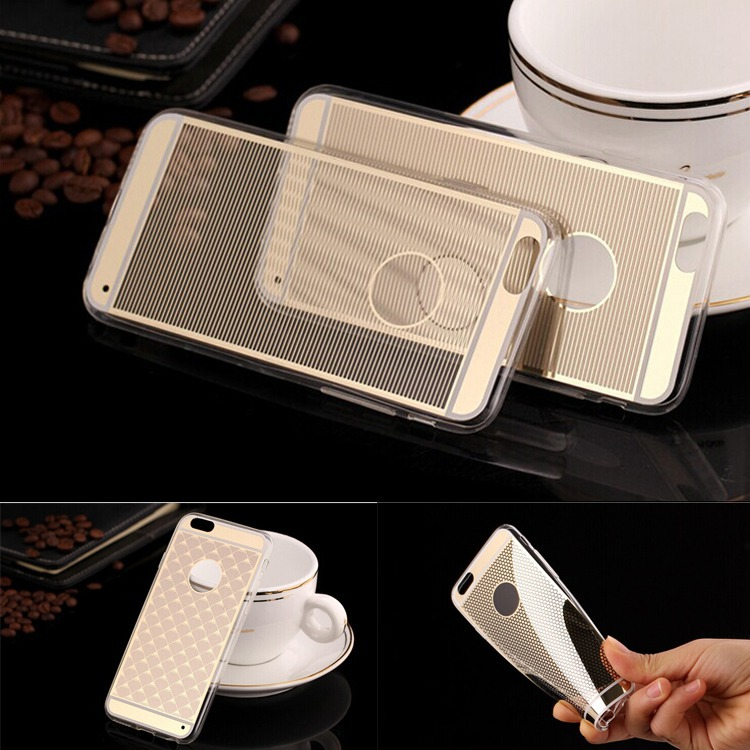 Fundas iphone 6 Luxury Mirror Electroplating Soft Gel TPU Pattern Back Case Apple iPhone 4.7 inchPlus 5.5 inch Phone - Best Accessory store