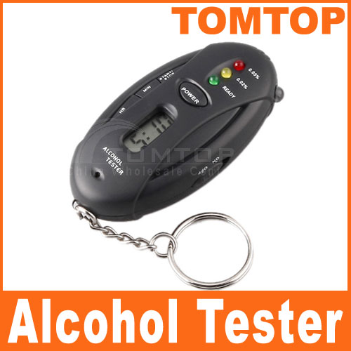 KKmoon Mini Portable Digital Alcotester 3 Flashlight Keychain Breathalyzer Alcohol Tester Red LED Light Alarm Alcohol Detector(China (Mainland))