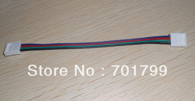 promotion!!! strip conector with 15cm long wire,10mm width  for 5050 SMD rgb led strip;no need soldering