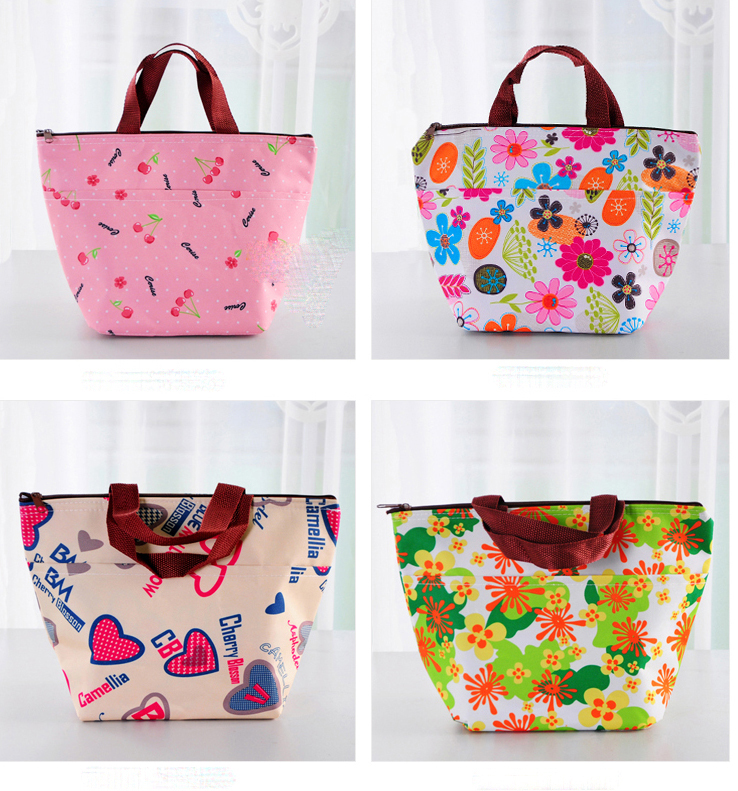 hot 2016 new fashion print thickening thermal bags lunch ...