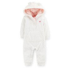 Carter's Baby Girls Baby Boys Hooded Microfleece Jumpsuit Babies Rompers Newborn Infant Carters Boutique Romper