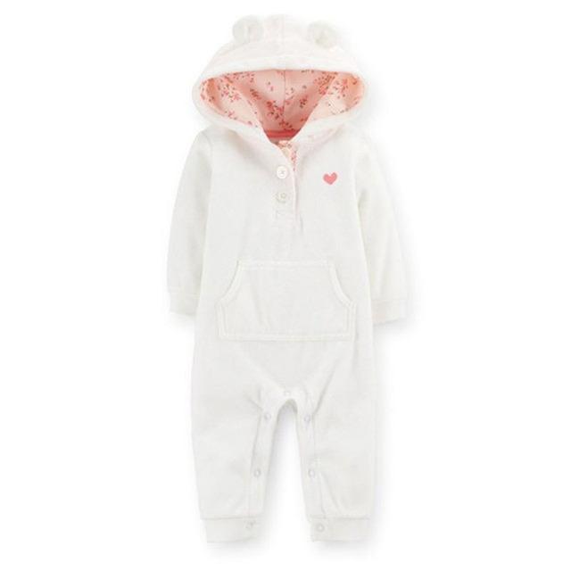 Carter's Baby Girls Baby Boys Hooded Microfleece Jumpsuit