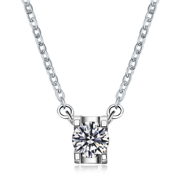 Oxhead Style Brand SONA Synthetic Diamond Pendant For Women Free Necklace Gift Pure Silver 18K White Gold Plated Brand Jewelry(China (Mainland))