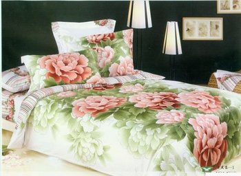 Free Shipping Hot Sale High Quality 100% Cotton F010 on sale Reactive Printed 4pc Bed Sheet Set