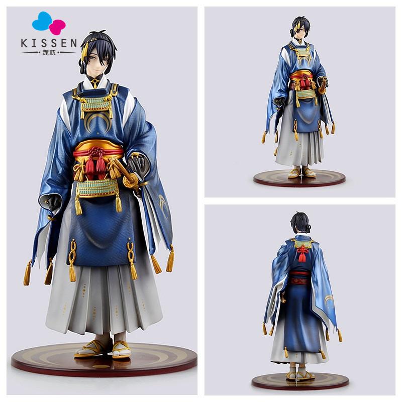 Kissen Game Touken Ranbu Online Mikazuki Munechika 22.5CM PVC Cute Girl Action Figure Collection Model Toy Doll Gifts Cosplay(China (Mainland))