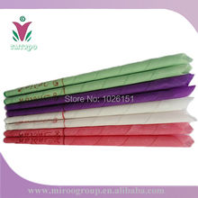 Free Ship Hotsale High quality 50pairs=100pcs aromatherapy beewax ear candle, natural ear wax candles (conical shape, 8 colors)(China (Mainland))