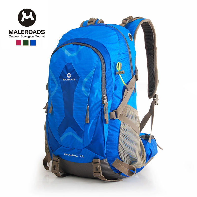 Maleroads 35L waterproof bicycle backpack women&men travel bags outdoor hiking riding backpacks camping rucksack tourist bolsos(China (Mainland))
