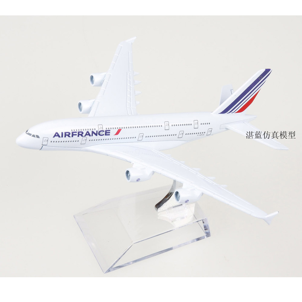 Brand New 1/500 Scale Air France Airbus A380 Airplane 14cm Length Diecast Metal Plane Model Toy For Collection/Gift/Decoration(China (Mainland))