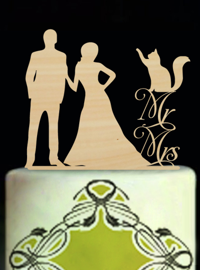 Bride And Groom Wood Wedding Decoration Cake Toppers Mr And Mrs Wedding Cake Toppers Custom Cake Toppers Modern Toppers(China (Mainland))