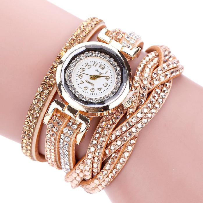 SmileOMG Hot Marketing Fashion Gold Bracelet Quartz Wristwatch Rhinestone Clock Ladies Dress Gift Watches Free Shipping,Sep 21