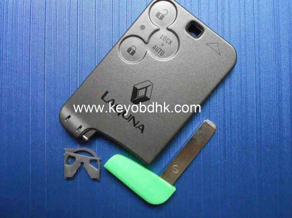 FOR RENAULT Laguna 3 buttons smart card case remote car key blank shell with L blade(China (Mainland))