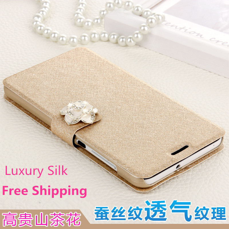 High Quality Silk Cell Cases For Lenovo S90 S90T S90U Mobile Phone bags case Cover Fashion Luxury Diamond s90 t +Free Shipping(China (Mainland))