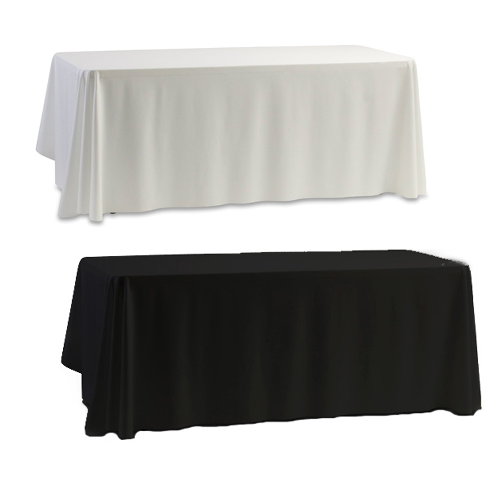 Newcomdigi#Tablecloth Table Cover White & Black for Banquet Wedding Party Decor 145x145cm 2014 new nappe de table(China (Mainland))