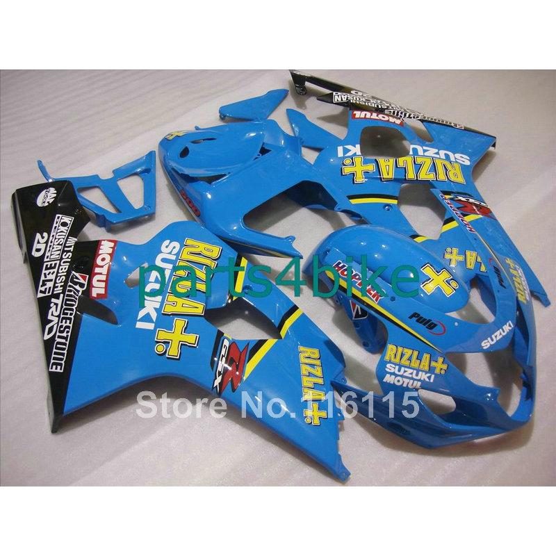 Customize fairing kit for SUZUKI GSXR 600 750 K4 2004 2005 bodykits GSXR600 GSXR750 04 05 blue black RIZLA+ fairings set LF30(China (Mainland))