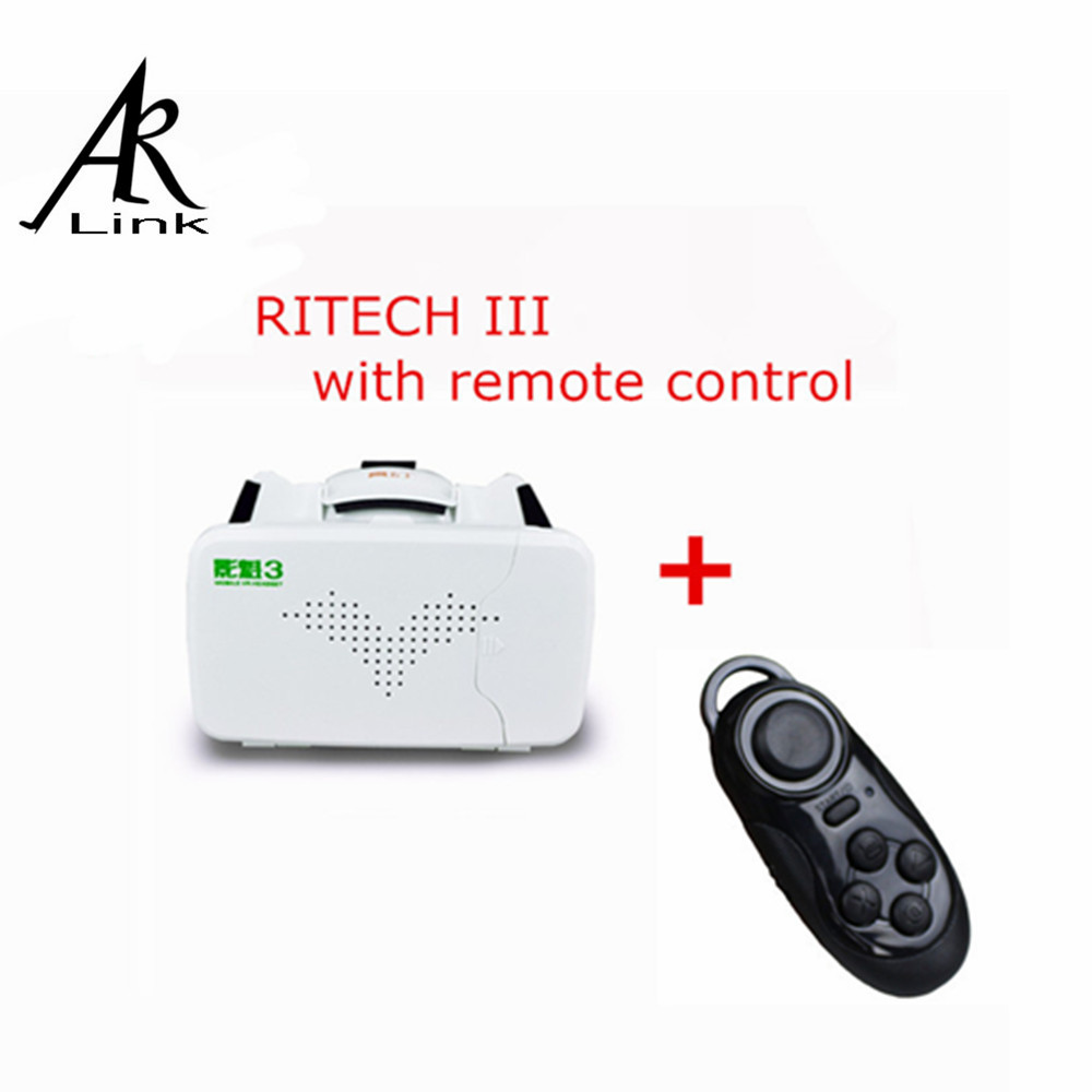 RITECH III Head Mount 360 Degree VR Virtual Reality 3D Glasses Google Cardboard for 3.5-6 inch With AR +Bluetooth Controller<br><br>Aliexpress