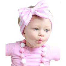 Buy 1PC Baby Flower Hair Bands Girl Striped Knot Headband Kids Turban Knitted Hair Accessories Children Cross Headwear KT016 for $1.04 in AliExpress store
