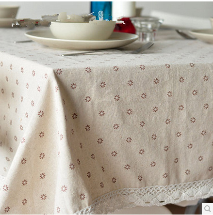 Tablecloth Lace Linen Table Cover Fabric Dining Table Cloth Free Shipping Zakka Stlye Home Textile Kitchen Party Clothes(China (Mainland))