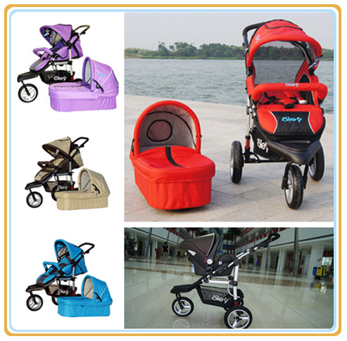Hot Worldwide Folding 3 In 1 Wagon with Carry Cot + Bassinet Cart Stroller 4 Colors High Quality Buggy 600D Oxford Cloth(China (Mainland))