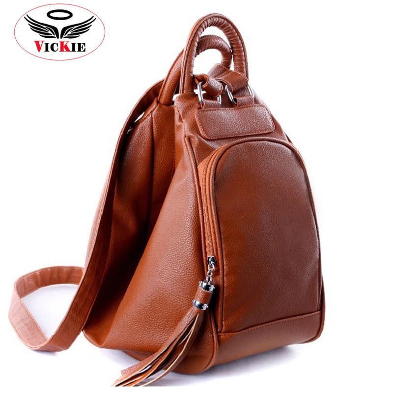Fashion Tassel Women's Leather Backpacks Casual Lady Backpack Travel Bag Campus Women Bag School Shoulder Bags Mochilas Feminina(China (Mainland))