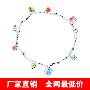 Hot-selling 925 pure silver anklets