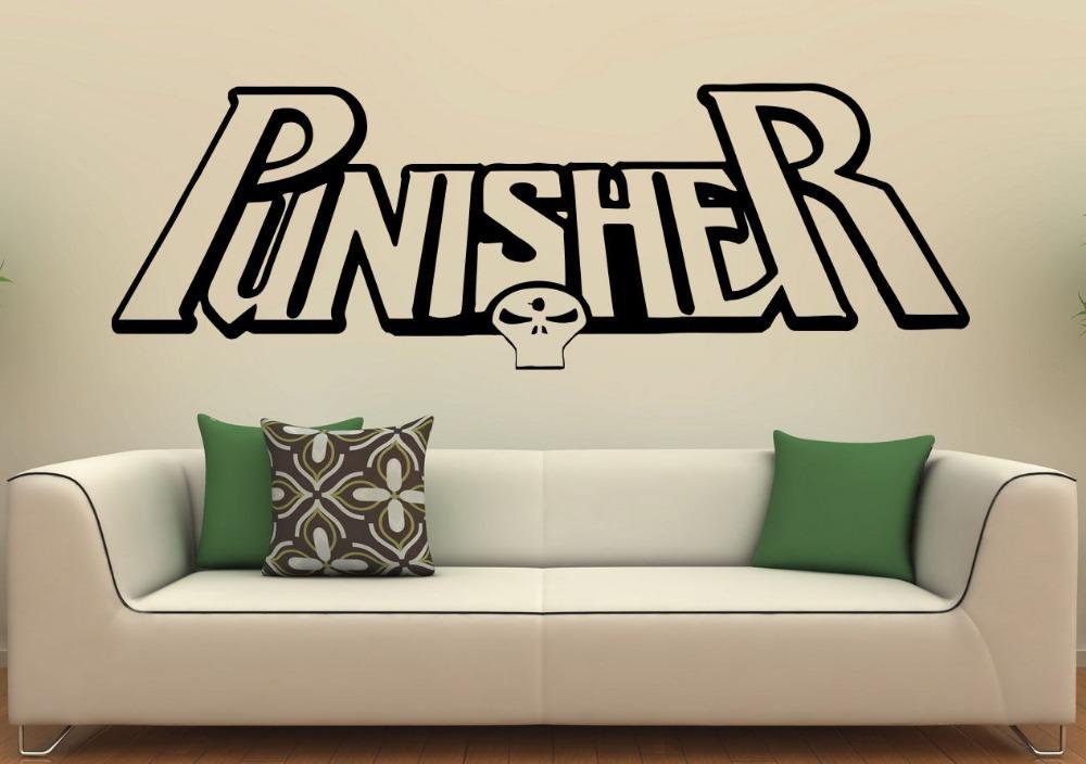 Punisher pared del vinilo superh roe de marvel comics for Vinilos pared aliexpress