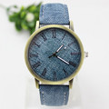 New Fashion Simple Retro Style Rome Quartz Watch Brass Case Analog Women Wristwatches Casual Leather Watches
