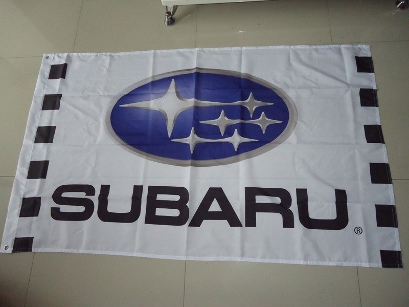 3x5 FT exhibition subaru car show flag for service,subaru car banner, 90X150CM size,100% polyster custom flag(China (Mainland))