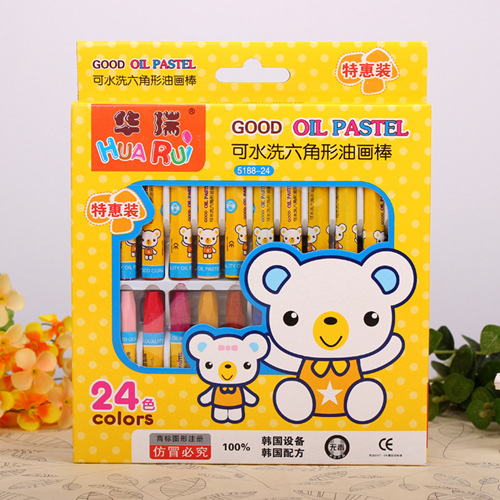 12-36 Color Oil Painting Stick Painting Children Huarui Art Supplies Wholesale Stationery Washable Crayons Drawing Pen(China (Mainland))
