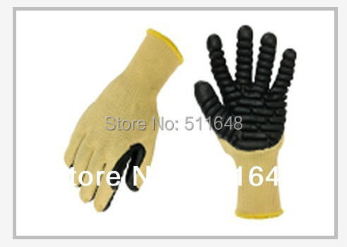 0097 Aramid Cut Resistant Gloves,Shockproof Gloves With Foam Latex on palm M/L size free shipping