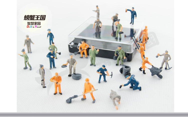 Mix Painted Model Train Park Street Passenger People Figures Mini Model People With Various Poses KB000399(China (Mainland))