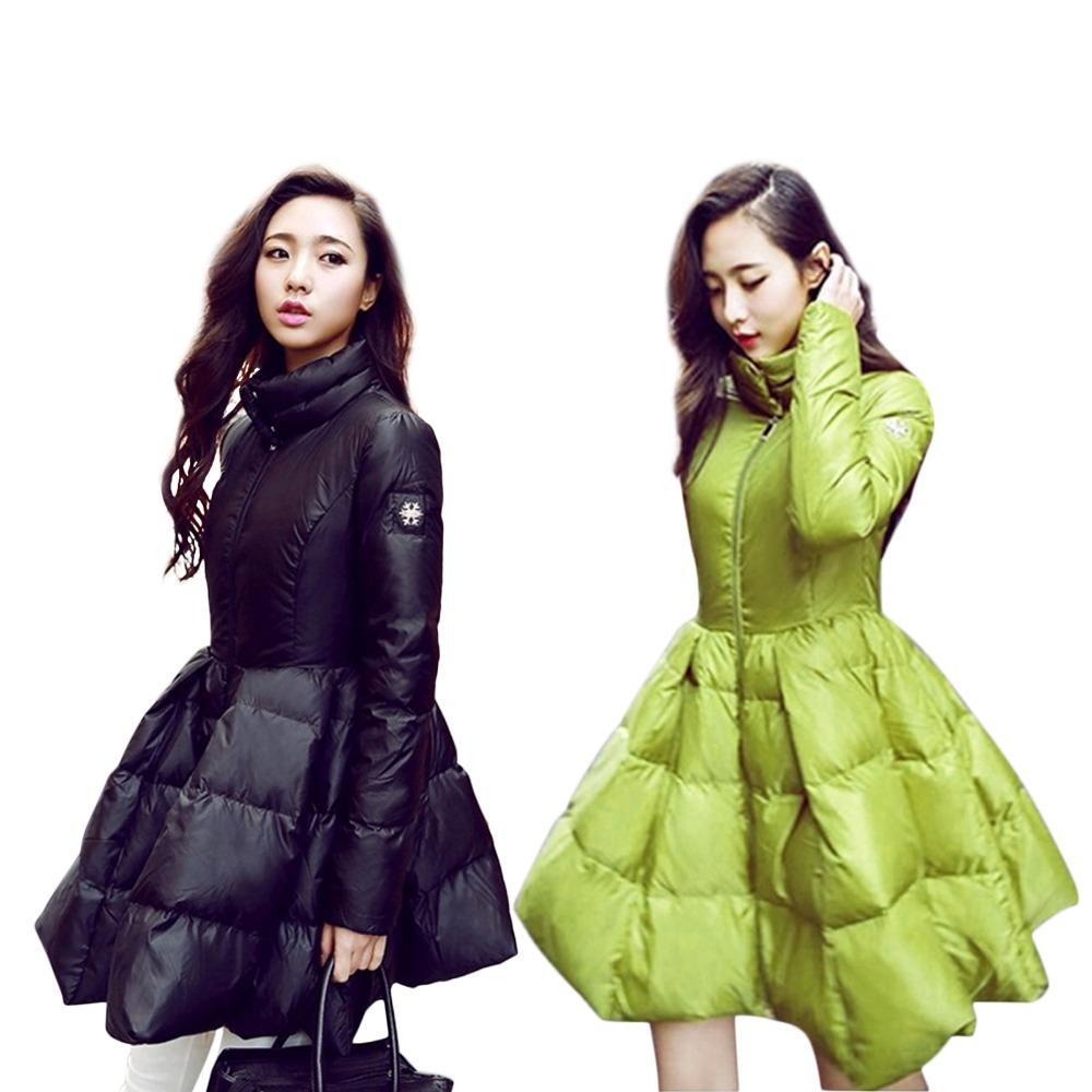 Hot Sell 2015 Winter Jacket Women White Duck Down Slim Down Jacket And Long Sections Cloak Type Jacket Winter Parka women