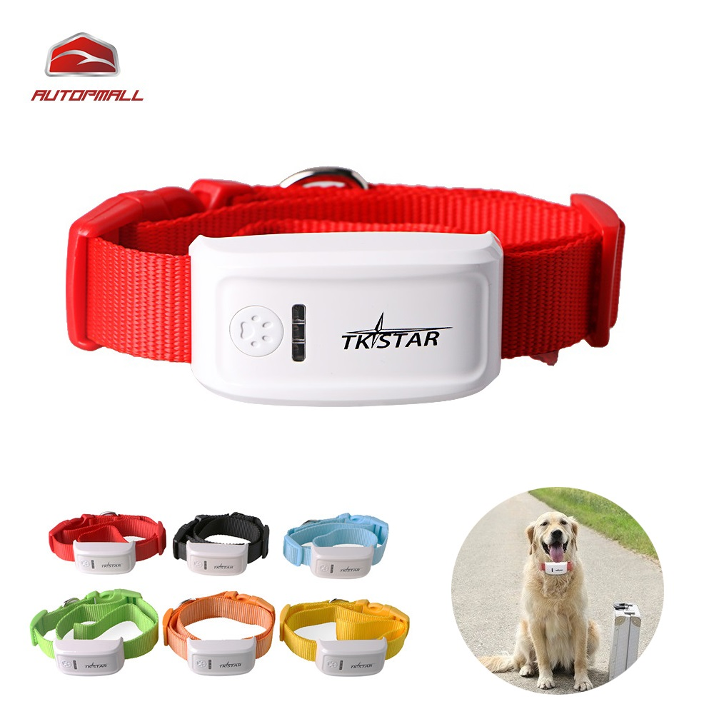 Mini TK909 Dog Cat Pet GPS Tracker Waterproof 400 Hours Standby Six Colors Dog Finder IOS / Android APP Free Website Tracking(China (Mainland))