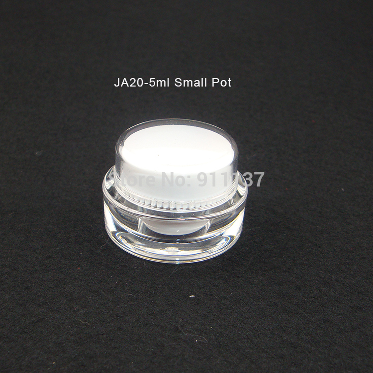 round cosmetic 5ml plastic jar for nail polish , acrylic 5g mini cream jar wholesale , white small containers<br><br>Aliexpress