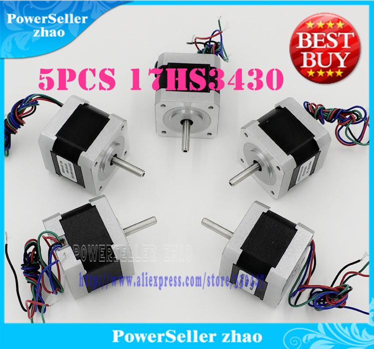 все цены на Шаговый двигатель Mux 5pcs 3D /nema17 12 , 2800g.cm, 34 , 0.4A, 4/, 17HS3430 онлайн